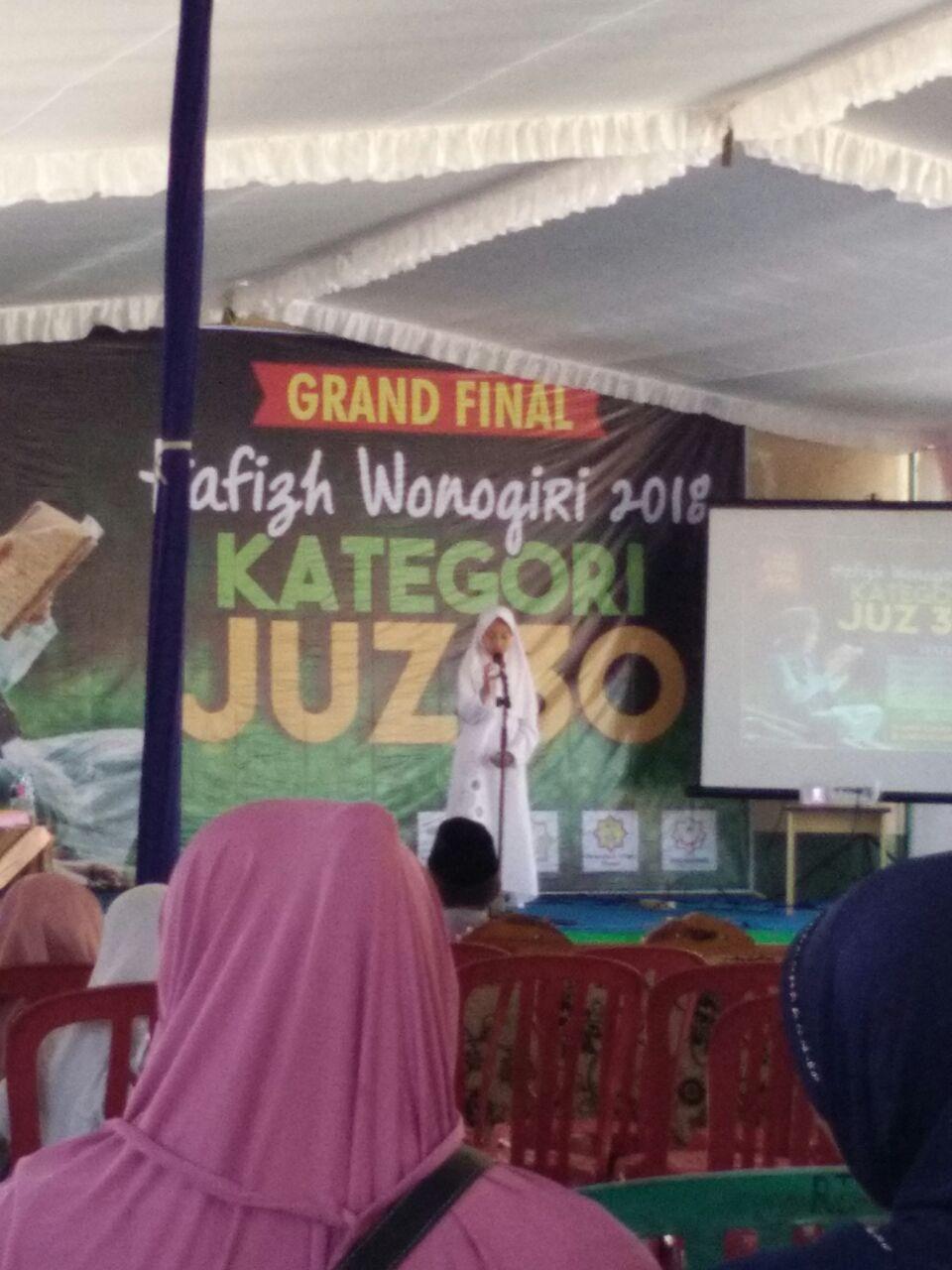 Dua Siswi SDIT Nurul Iman Purwantoro Ikuti Grand Final Hafizh Wonogiri 2018
