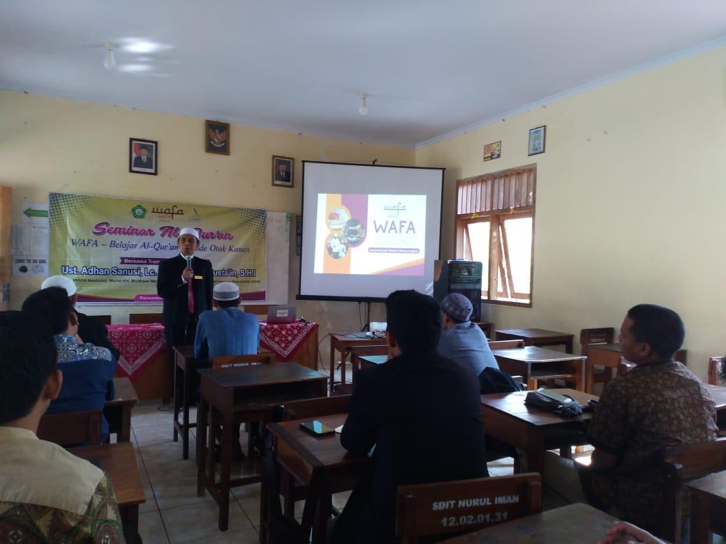 SDIT Nurul Iman Selenggarakan Seminar Al-Qur'an WAFA
