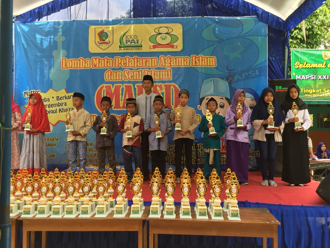 SDIT Nurul Iman Juara Umum MAPSI XXI Tingkat Kecamatan Purwantoro