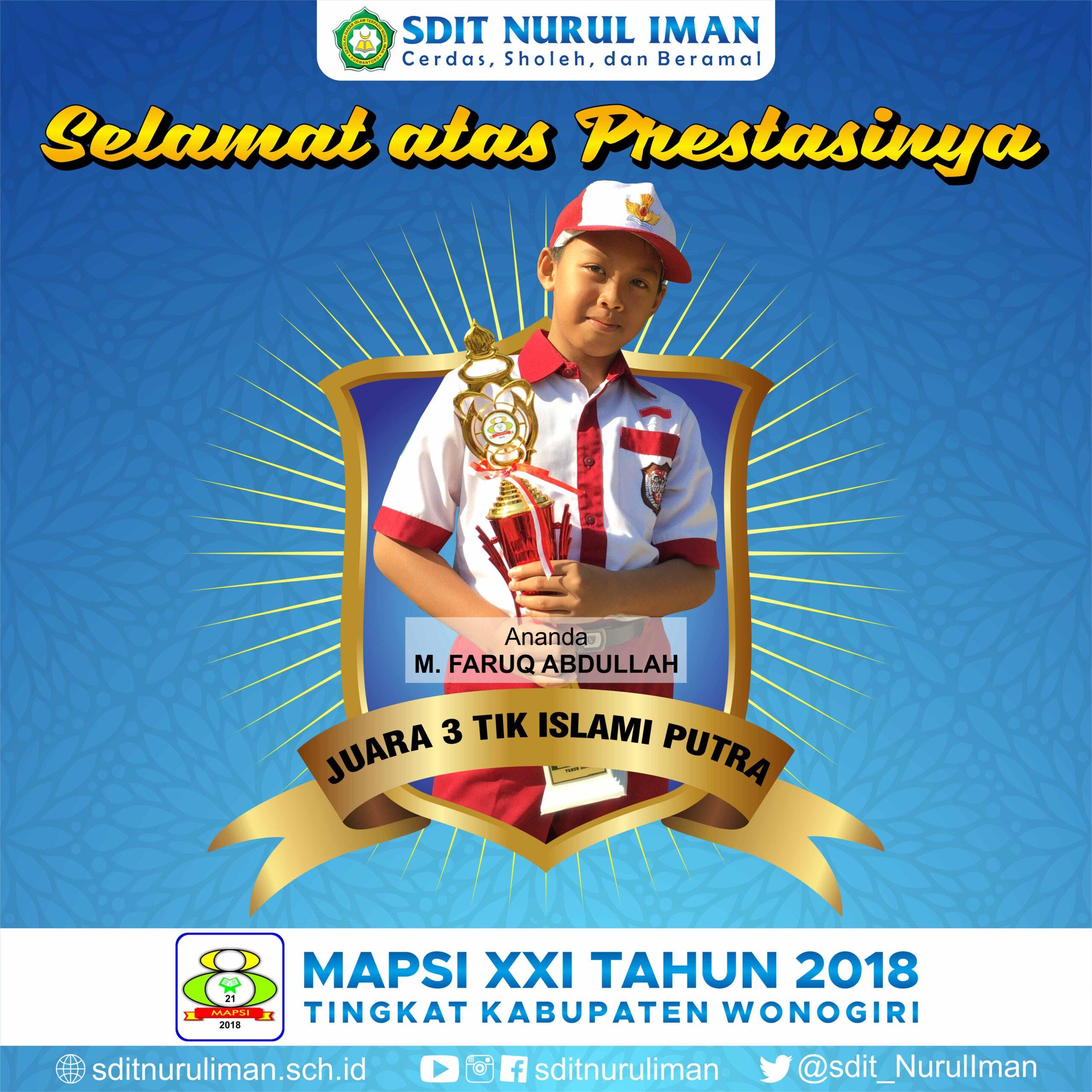 Juara 3 TIKI Putra Lomba MAPSI XXI Tingkat Kabupaten Wonogiri