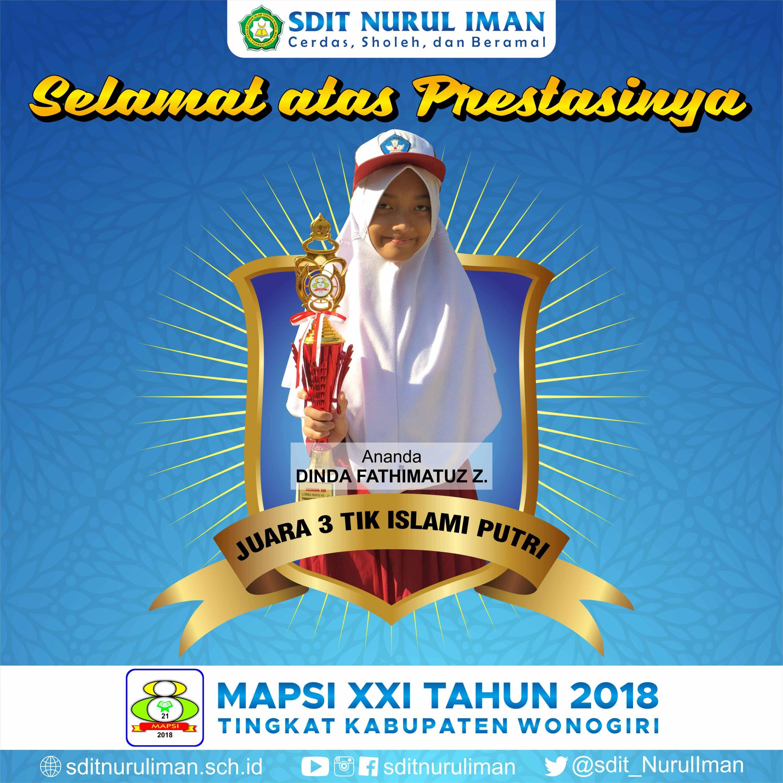 Juara 3 TIKI Putri Lomba MAPSI XXI Tingkat Kabupaten Wonogiri