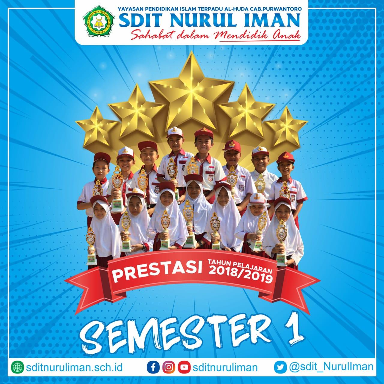 Prestasi SDIT Nurul Iman Purwantoro Semester I