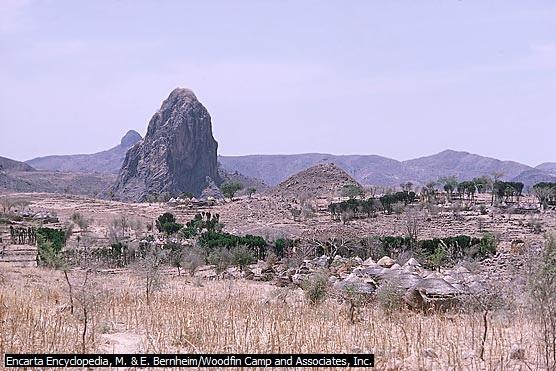 Inselberg di Kamerun Utara