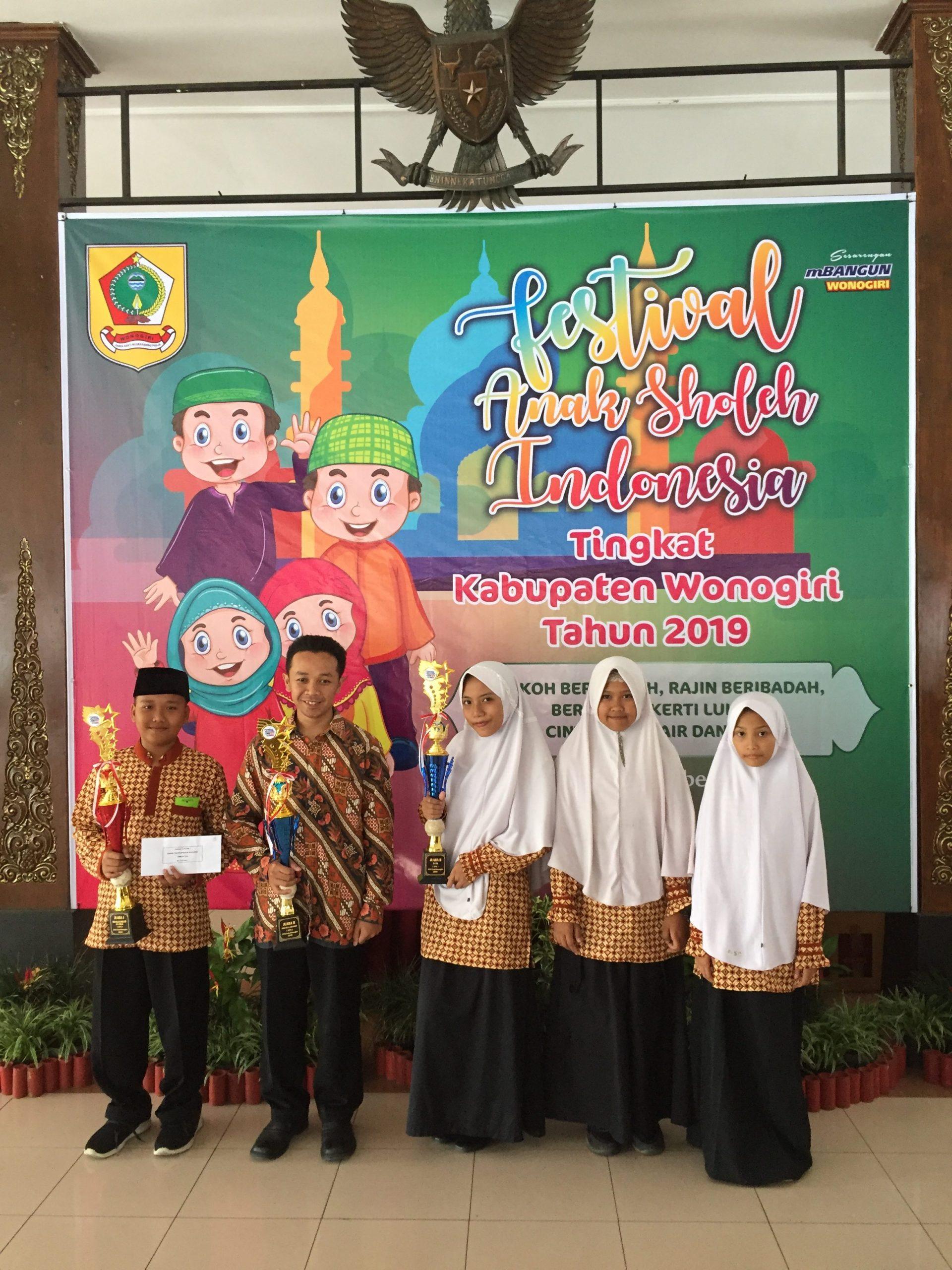 Juara Festival Anak Sholeh Indonesia (FASI) 2019 Tingkat Kabupaten Wonogiri