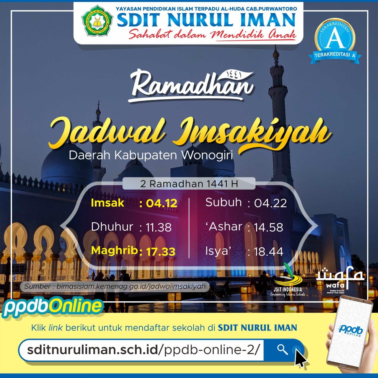 2 Ramadhan 1441 H
