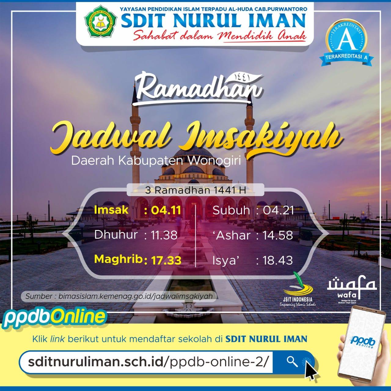 3 Ramadhan 1441 H