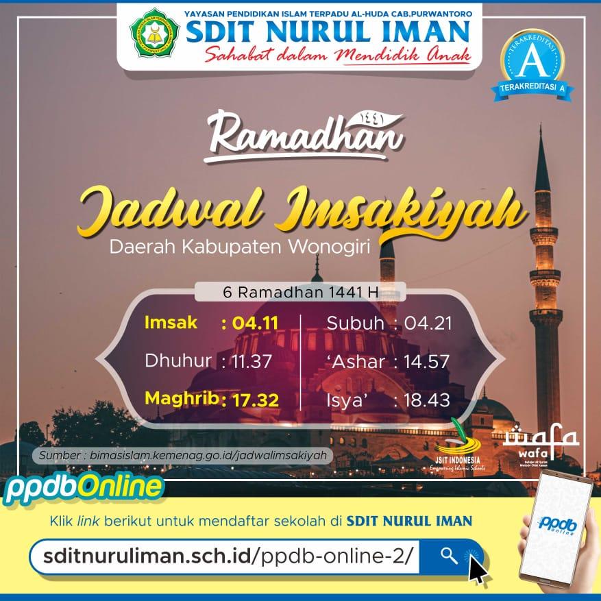6 Ramadhan 1441 H