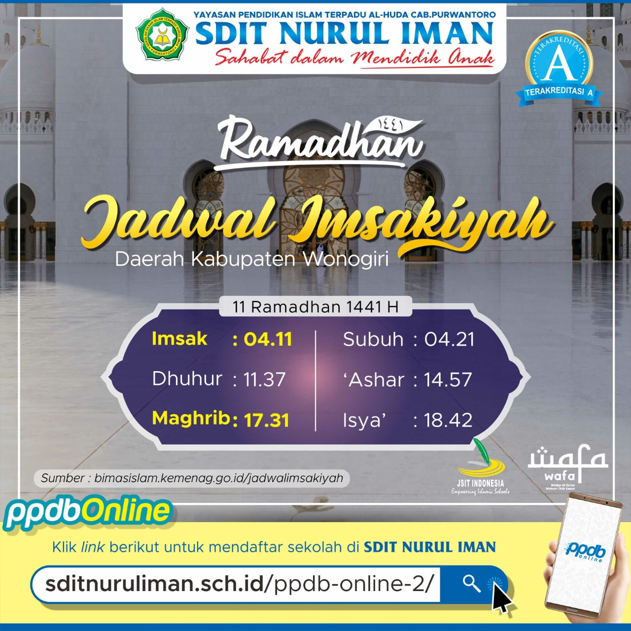 11 Ramadhan 1441 H