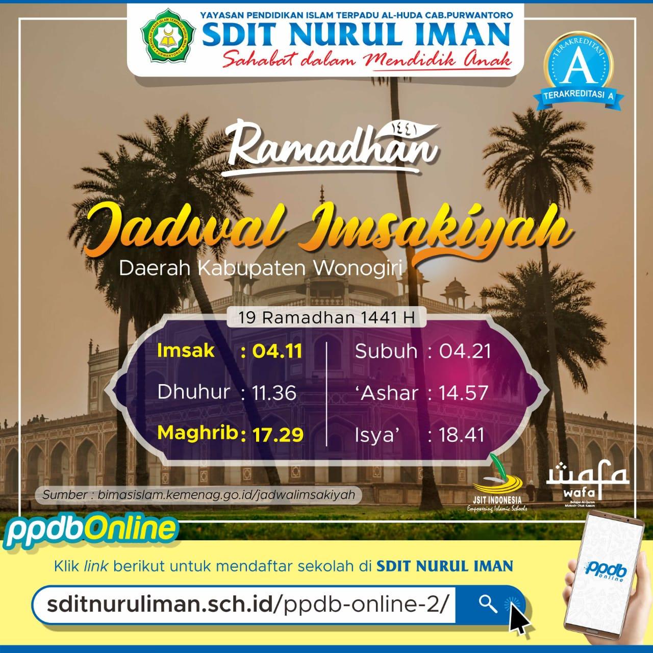 19 Ramadhan 1441 H