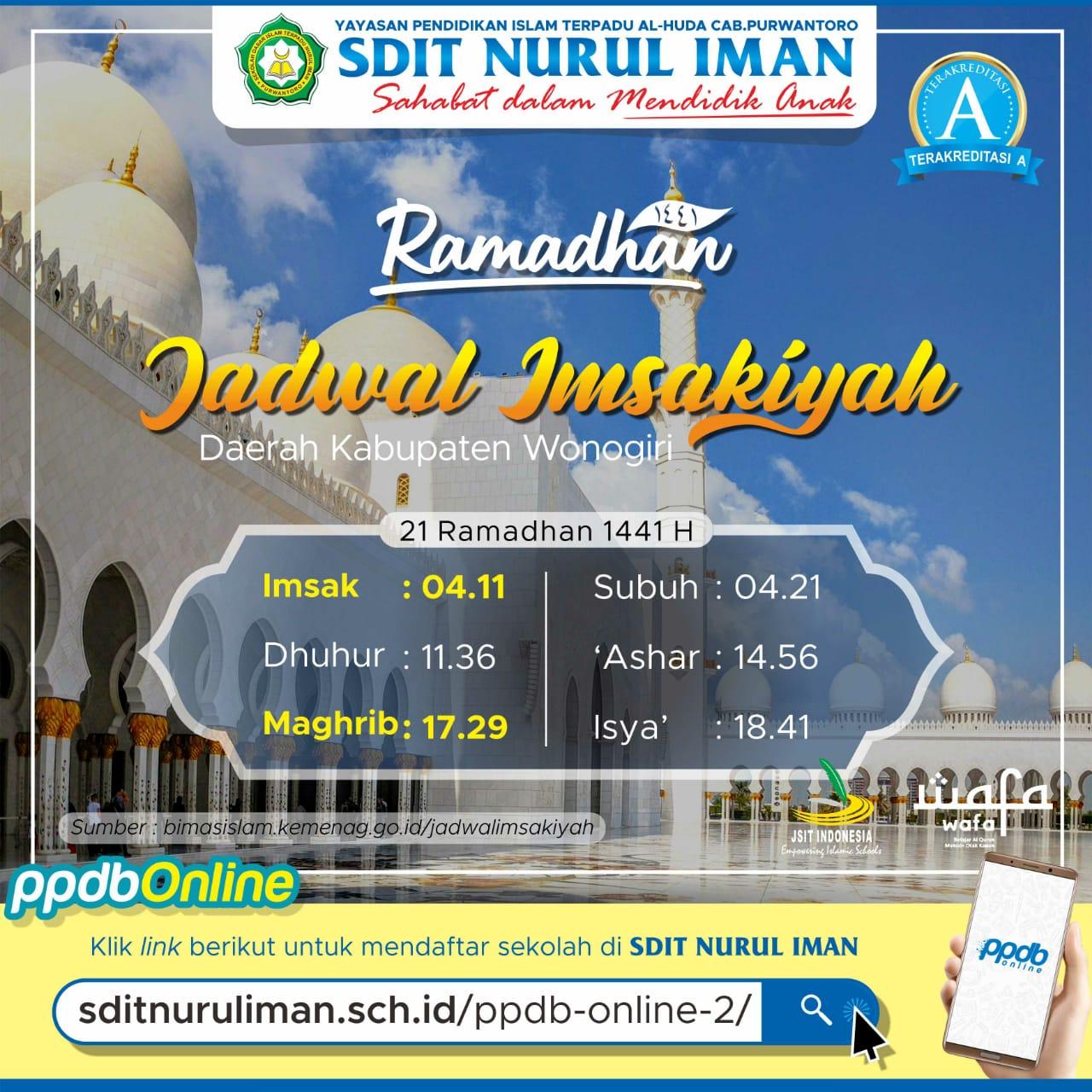 21 Ramadhan 1441 H