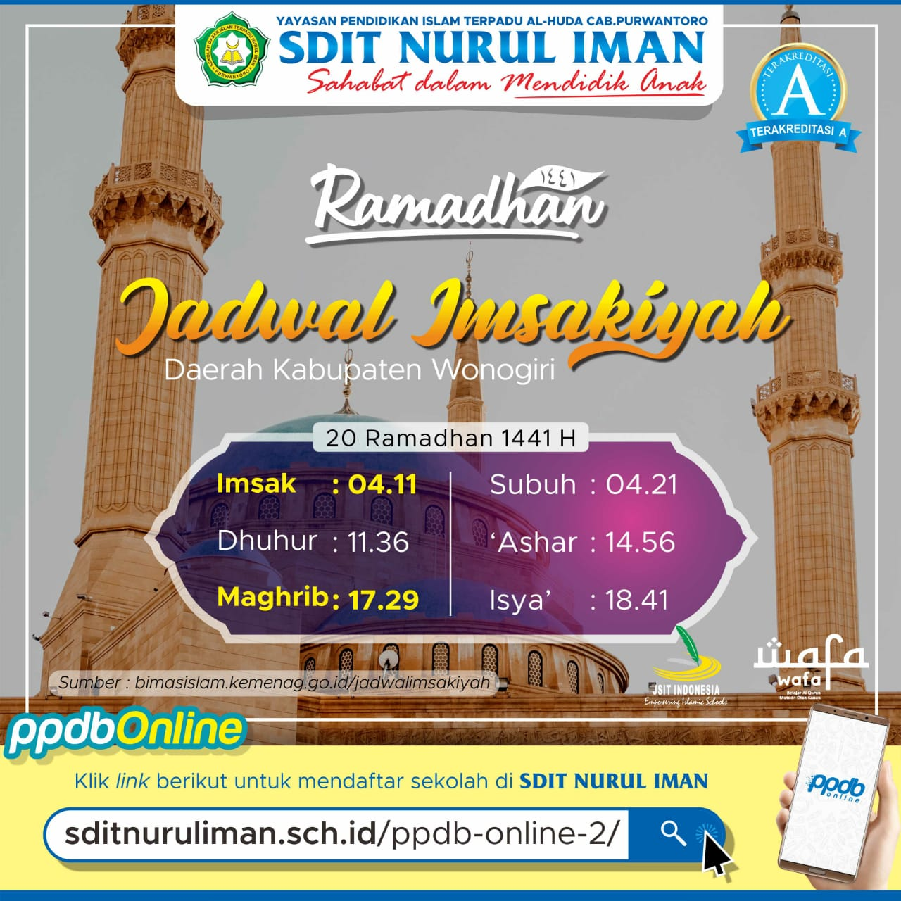 20 Ramadhan 1441 H