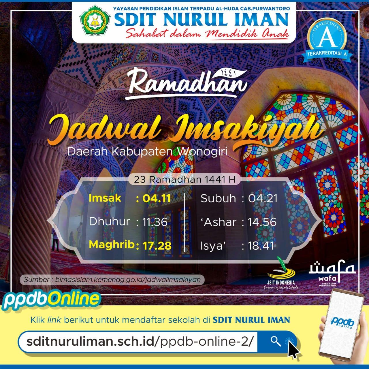 23 Ramadhan 1441 H