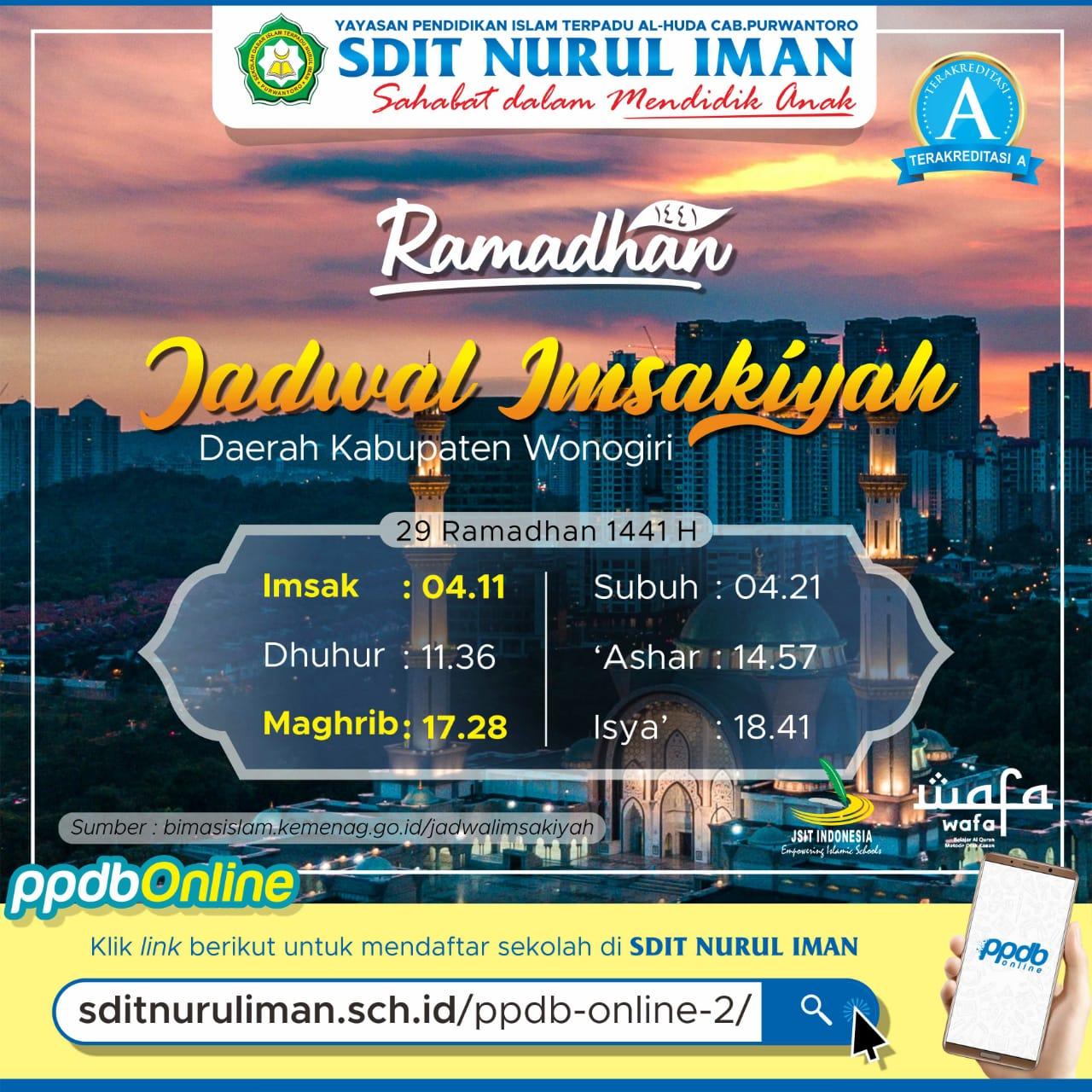 29 Ramadhan 1441 H