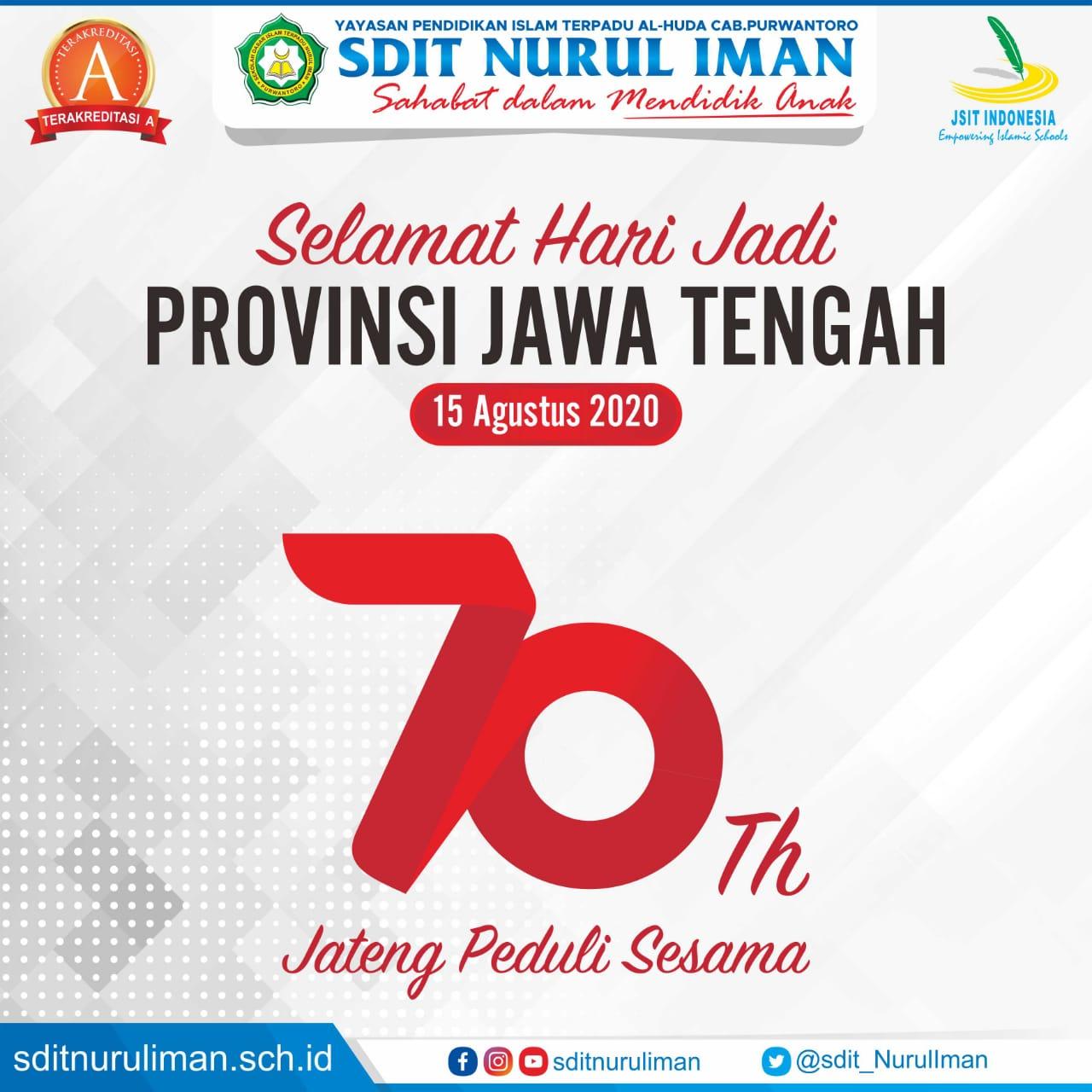 Selamat Hari Jadi Provinsi Jawa Tengah