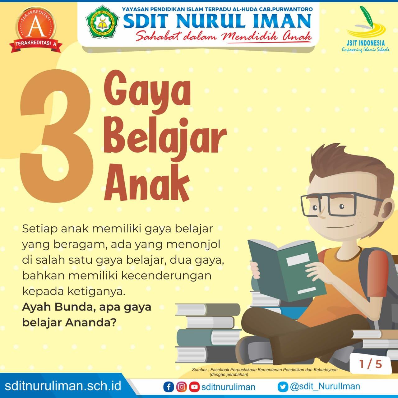 3 Gaya Belajar Anak