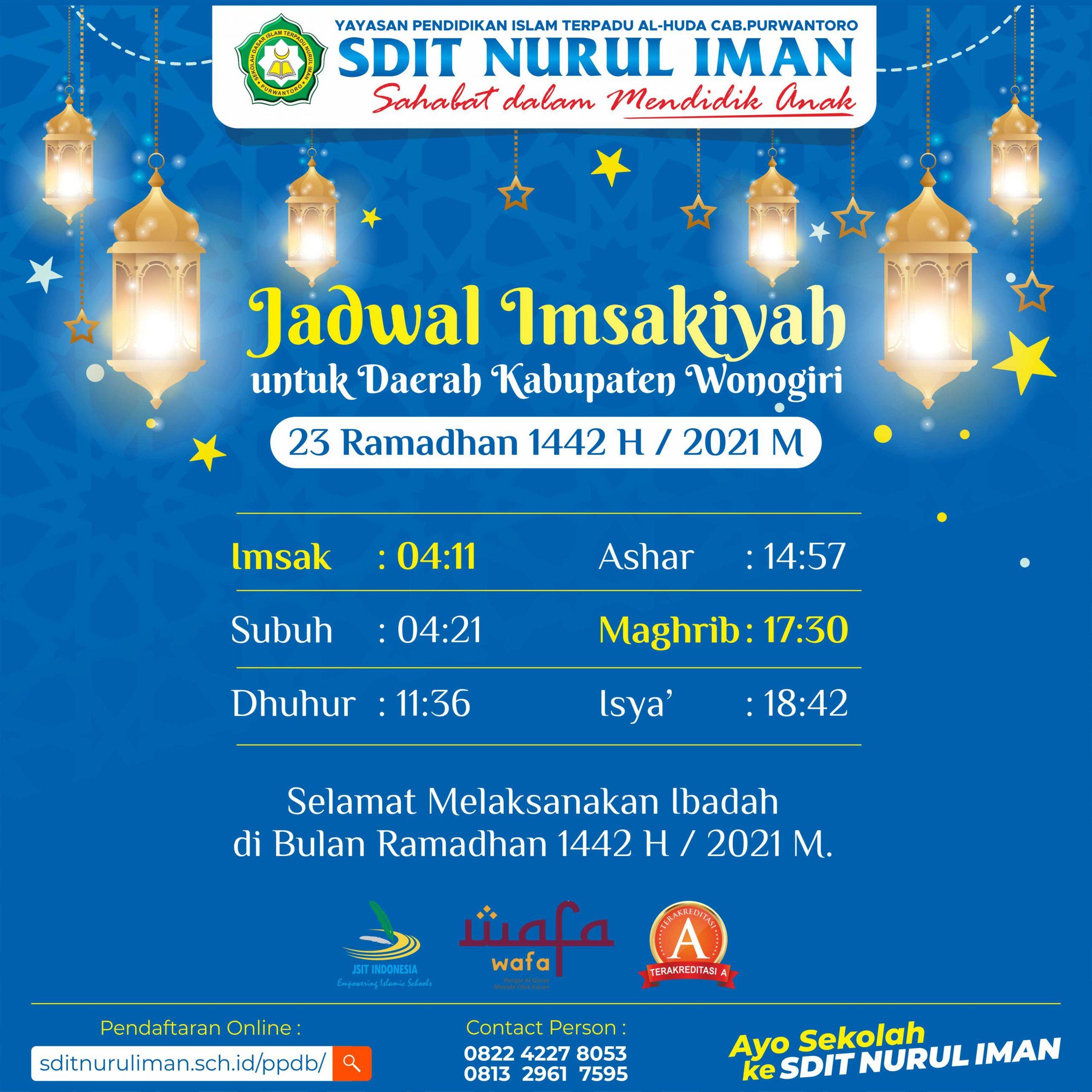 23 Ramadhan 1442 H
